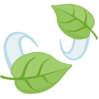🍃 «Leaf Fluttering in Wind» Emoji para Facebook / Messenger