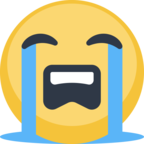 😭 Facebook / Messenger Loudly Crying Face Emoji - Site Facebook