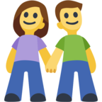 👫 Facebook / Messenger «Man and Woman Holding Hands» Emoji
