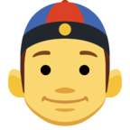 👲 Man With Chinese Cap Emoji para Facebook / Messenger - Sitio web de Facebook