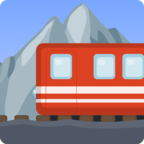 🚞 Смайлик Facebook / Messenger «Mountain Railway»