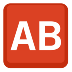 🆎 Facebook / Messenger «Ab Button (blood Type)» Emoji