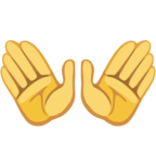 👐 Facebook / Messenger «Open Hands» Emoji - Facebook Website Version
