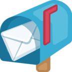 📬 Facebook / Messenger «Open Mailbox With Raised Flag» Emoji