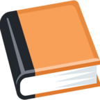 📙 Смайлик Facebook / Messenger «Orange Book»