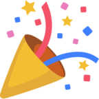 🎉 Смайлик Facebook / Messenger «Party Popper»