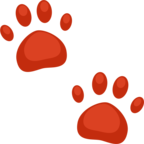 🐾 Смайлик Facebook / Messenger «Paw Prints»