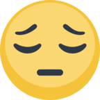 😔 Facebook / Messenger «Pensive Face» Emoji