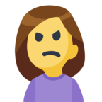 🙍 Facebook / Messenger «Person Frowning» Emoji