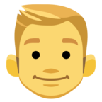 👱 Смайлик Facebook / Messenger «Blond-Haired Person»