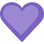 💜 Facebook / Messenger «Purple Heart» Emoji