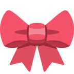 🎀 Смайлик Facebook / Messenger «Ribbon»