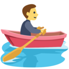 Facebook Emoji 🚣 - Person Rowing Boat Messenger