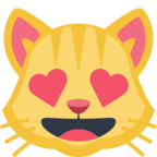 😻 Смайлик Facebook / Messenger «Smiling Cat Face With Heart-Eyes»