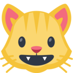 😺 Facebook / Messenger «Smiling Cat Face With Open Mouth» Emoji - Facebook Website Version