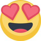 😍 Facebook / Messenger «Smiling Face With Heart-Eyes» Emoji