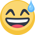 😅 Facebook / Messenger Smiling Face With Open Mouth & Cold Sweat Emoji - Facebook Website