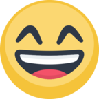 😄 Смайлик Facebook / Messenger «Smiling Face With Open Mouth & Smiling Eyes»