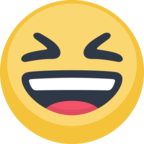 😆 Facebook / Messenger Smiling Face With Open Mouth & Closed Eyes Emoji - Facebook Website