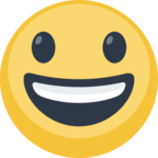 😃 Facebook / Messenger «Smiling Face With Open Mouth» Emoji