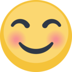 😊 Facebook / Messenger «Smiling Face With Smiling Eyes» Emoji