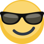 😎 Смайлик Facebook / Messenger «Smiling Face With Sunglasses»