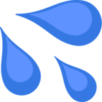 💦 Facebook / Messenger «Sweat Droplets» Emoji