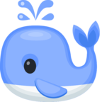 🐳 Смайлик Facebook / Messenger «Spouting Whale»