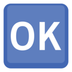 🆗 Facebook / Messenger OK Button Emoji - Site Facebook