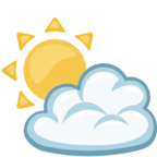⛅ «Sun Behind Cloud» Emoji para Facebook / Messenger