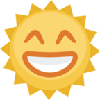 🌞 Facebook / Messenger «Sun With Face» Emoji