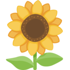 🌻 Смайлик Facebook / Messenger «Sunflower»