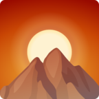 🌄 Facebook / Messenger Sunrise Over Mountains Emoji - Facebook Website