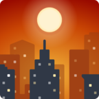 🌇 Facebook / Messenger Sunset Emoji - Facebook Website