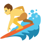 🏄 «Person Surfing» Emoji para Facebook / Messenger