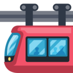🚟 Смайлик Facebook / Messenger «Suspension Railway»