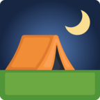 ⛺ Смайлик Facebook / Messenger «Tent»