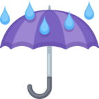☔ «Umbrella With Rain Drops» Emoji para Facebook / Messenger