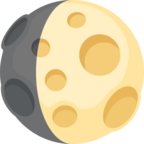 🌔 Facebook / Messenger «Waxing Gibbous Moon» Emoji