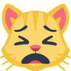 🙀 Facebook / Messenger Weary Cat Face Emoji - Facebook Website