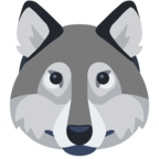 🐺 Смайлик Facebook / Messenger «Wolf Face»