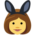 👯 People With Bunny Ears Partying Emoji para Facebook / Messenger - Sitio web de Facebook