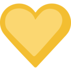 💛 Facebook / Messenger Yellow Heart Emoji - Site Facebook