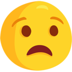 😧 Anguished Face Emoji para Facebook / Messenger - Facebook Messenger