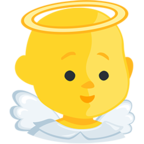 👼 Facebook / Messenger Baby Angel Emoji - Facebook Messenger
