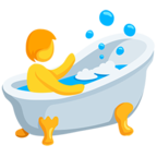 🛀 Facebook / Messenger Person Taking Bath Emoji - Facebook Messenger