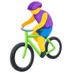 🚴 Facebook / Messenger «Person Biking» Emoji - Messenger Application version