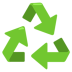 Facebook Emoji ♻ - Recycling Symbol Messenger