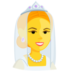 Facebook Emoji 👰 - Bride With Veil Messenger