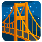 🌉 Facebook / Messenger Bridge at Night Emoji - Facebook Messenger